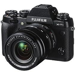 Fujifilm X-T1 Fotocamera Digitale 16 MP con Obiettivo Zoom XF18-55 MM F2.8-4 R LM OIS, Sensore X-Trans CMOS II APS-C, Nero