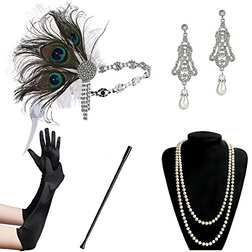 BABEYOND 1920s Flapper Gatsby Costume Accessories (Set2-10), used for sale  Delivered anywhere in Canada