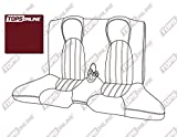 1997 thru 2000 Jaguar XK8 & XKR Convertible Models, Replacement Leather Seat Covers, Rear Only--Original Jaguar Leather (Cranberry)