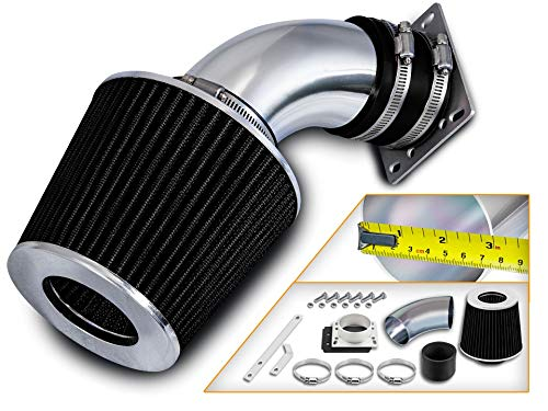 Rtunes Racing Short Ram Air Intake Kit + Filter Combo BLACK Compatible For 98-01 Compatible Ford Ranger / 98-01 Mazda B3000 3.0L V6