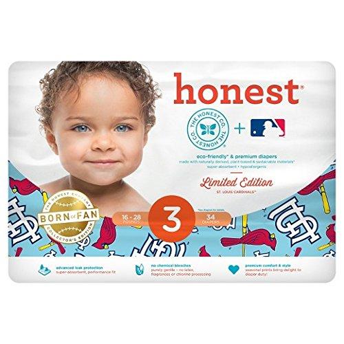 Honest Co. Diaper Size 3 (16-28 Lbs.) Ltd. Edition St. Louis Cardinals Print
