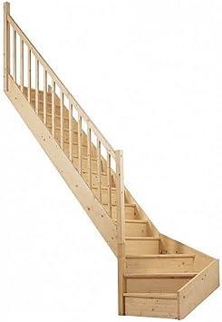 Escalera abierta 1/4 enrollado ahorro de espacio escalera de madera Escalera de caracol a la derecha: Amazon.es: Bricolaje y herramientas