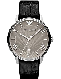 Emporio Armani Watch, Men's Black Croco Leather Strap 41mm AR1612