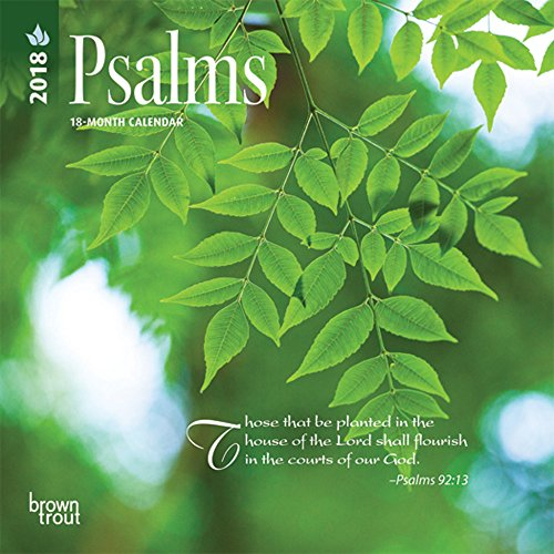 Psalms 2018 7 x 7 Inch Monthly Mini Wall Calendar, Religious Hymns Blessings