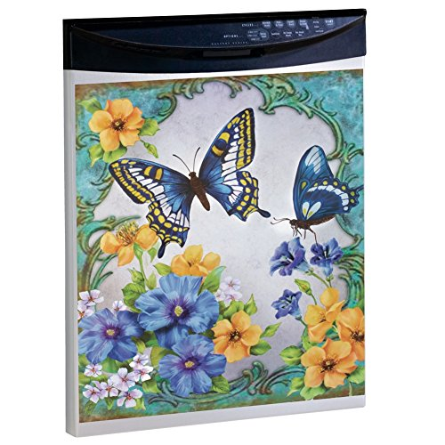 Vintage Spring Butterfly Flowers Dishwasher