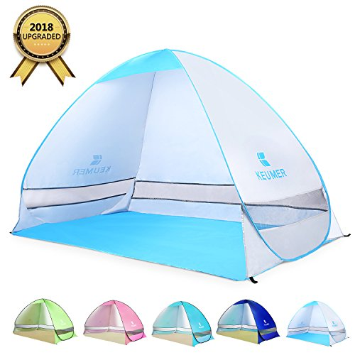 BATTOP Pop Up Beach Tent Camping Sun Shelter Outdoor Automatic Cabana 2-3 Person Fishing Anti UV Beach Tent Beach Shelter, Sets up in Seconds - Open Bolt