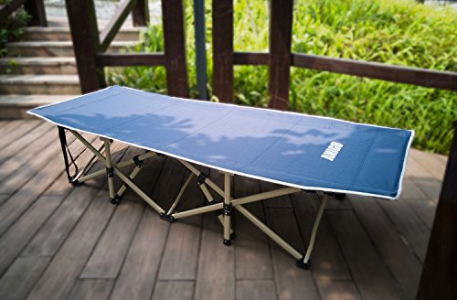 ANIGU Portable Folding Cot Bed for Camping 30 Powered Steels 10 Support Point Includes Storage Bag