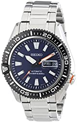 Seiko Men's SRP493 Diver's Stainless Steel Blue Dial Watch