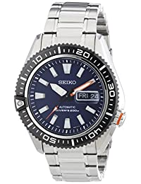 Seiko Men's 5 Automatic SRP493K Black Stainless-Steel Automatic Watch