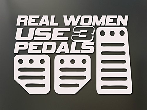 lis_pro REAL WOMEN USE 3 Pedals Sticker Funny JDM Honda Girl Race Car (Types Pedals Jdm)