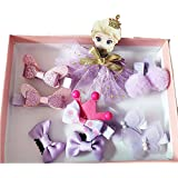 Funky Baby Fairy Girl Hair Accessories Set Clips - Head Clutches - 10 Pcs