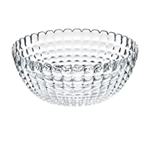 Guzzini Tiffany Collection Extra Large Serving Bowl, 169-Fluid Ounces, Transparent