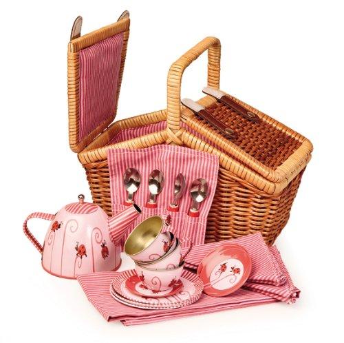 Egmont Toys Tin Tea Set Ladybug with Basket 540019 TR-540019