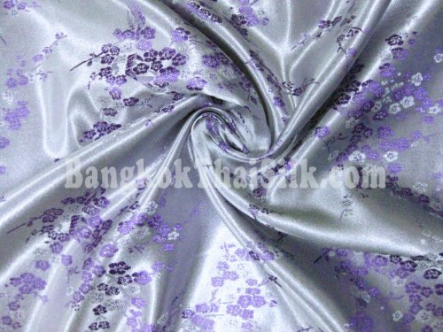 Chinese Brocade Dogwood Cherry Blossom Pale Lilac BTY 36