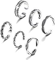 FIBO STEEL 3-6 Pcs Open Toe Rings for Women Girls Arrow Tail Band Toe Ring Adjustable