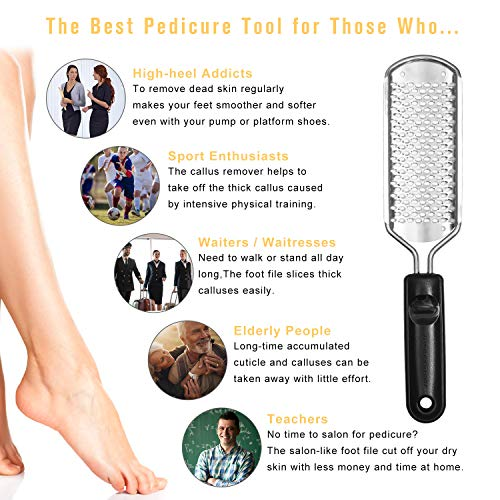 WAAO Colossal Pedicure Rasp Foot File, Callus Remover, Best Foot Care  Pedicure Metal Surface Tool To Remove Hard Skin, Can Be Used On Both Wet  And Dry