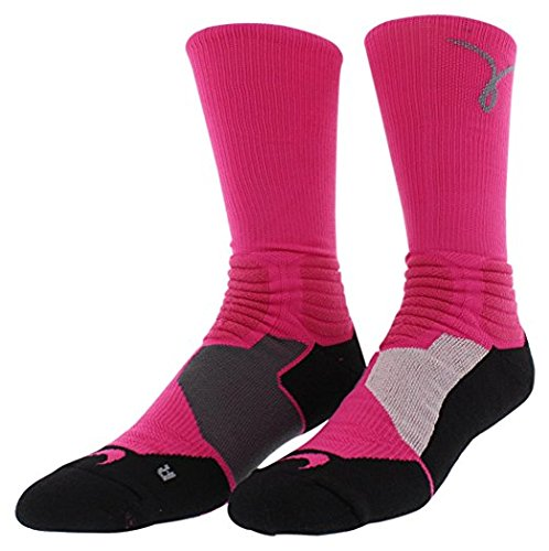 Nike Hyper Elite Kay Yow Basketball Breast Cancer Awareness Crew Socks - Large by Nike