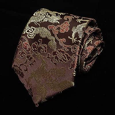 Corbatas para Hombre,Vino Rojo Estilo Chino, Caligrafía Vintage ...