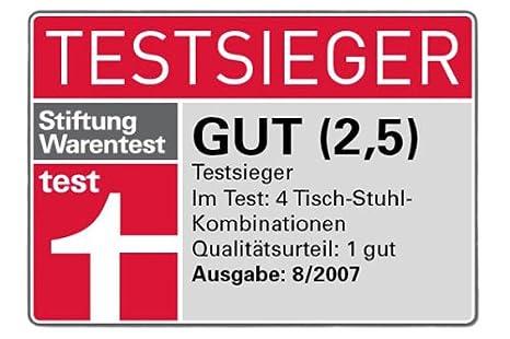 rot-weiss Herlag H4842-252 Hochstuhl Kombi-Set TX Buche massiv marine//Str