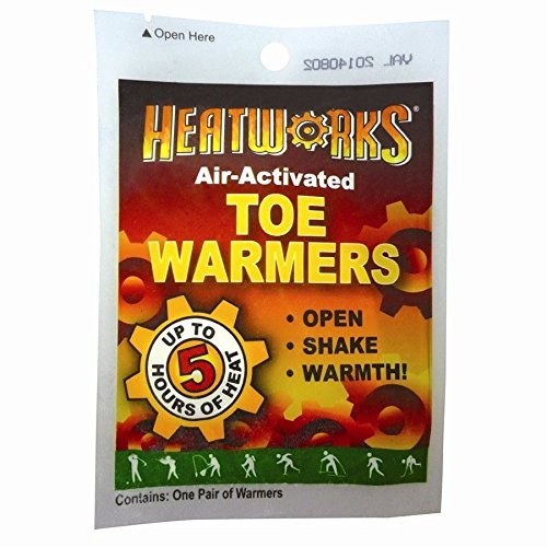 New Heatworks Air Activated Cold Weather Toe Foot Boot Warmers 4 Pack  5 Hours Heat