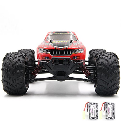 COSAY RC Car, For 9130 Remote Control Cars,1/16 Scale 36km/h,2.4Ghz 4WD High Speed off-road Vehicles With 2 Rechargeable Batteries, Give the Child the Best Gift