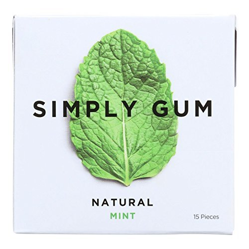 Simply Gum All Natural Gum – Mint – Pack of 12 – 15 Count Review