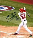 Bryce Harper Washington Nationals Signed Autographed Home Run Swing Photo