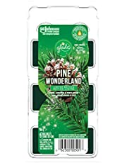 Glade Wax Melts Air Freshener and Odor Eliminator, Scented Essential Oils for Home and Bathroom, Pine Wonderland, 6 Count