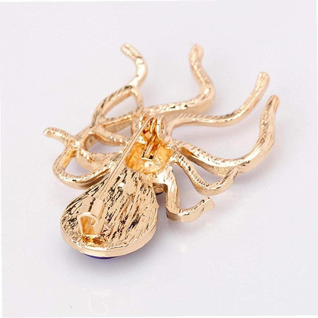 Glitter Opal Octopus Strass Broche Breastpin Femme Bijoux Accessoires De Mari/ée