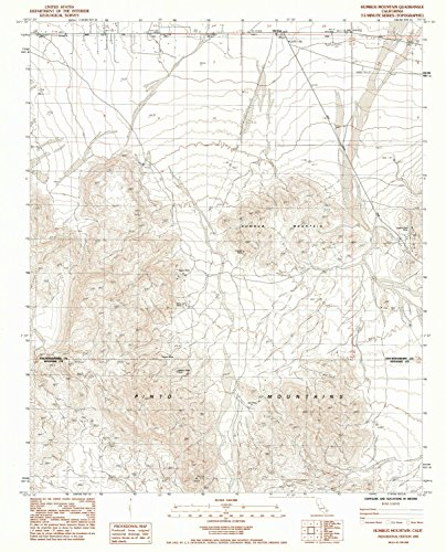 - YellowMaps Humbug Mountain CA topo map, 1:24000 Scale, 7.5 X 7.5 Minute, Historical, 1985, Updated 1985, 26.7 x 21.5 in - Polypropylene