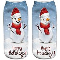 Calcetines de Navidad, Han Shi suave 3d impresión Mujer Casual lindo tobillo unisex Colorful Crew Calcetín