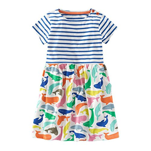 Princess Dress Toddler Girls Summer Clothing 2018 Brand Children Unicorn Costume for Girls Dresses A Line Vestidos,91,5 -