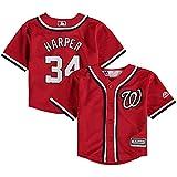 Majestic Bryce Harper Washington Nationals Toddler Cool Base Alternate Red Replica Jersey