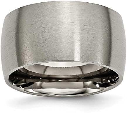 Chisel Brushed Titanium Ring (12.0 mm) - Sizes 8-12