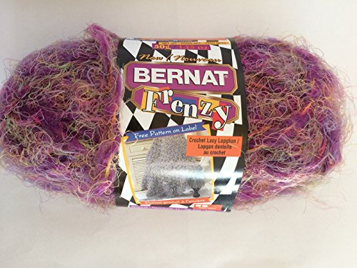 Bernat Frenzy - Loonie Lilac - Shades of Purple, Red, Gray