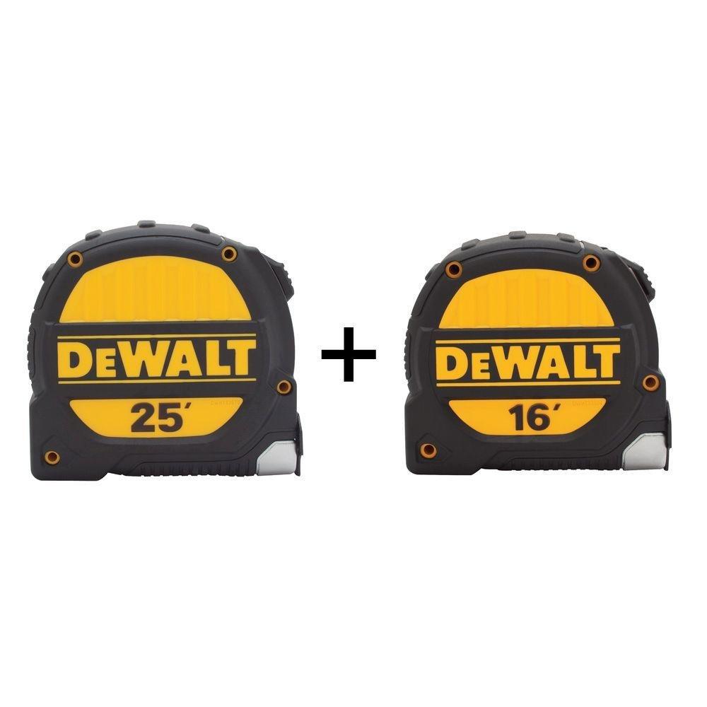 Dewalt 25 ft. and 16 ft. Tape Measure Set (2-Pack)