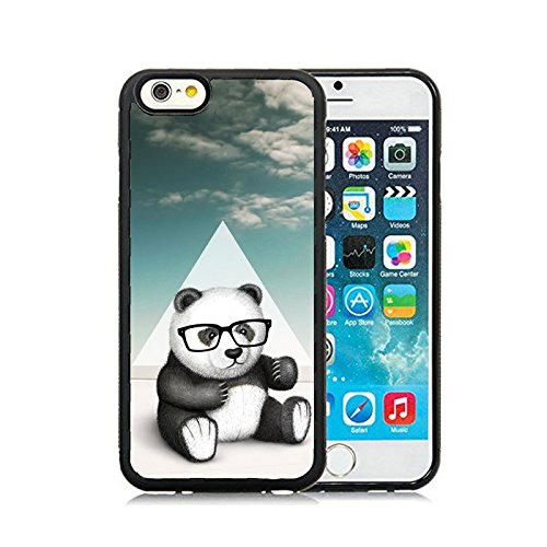 CorpCase iPhone 6 Case / iPhone 6 4.7 Inch Case TPU + PU Leather Back - Hipster Baby Panda Geek Glass Soft Case Protective TPU Cell Phone Case Cover iPhone 6 (4.7)