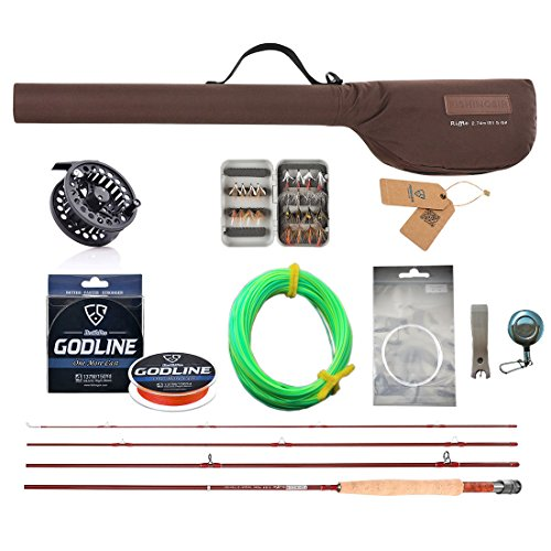 FISHINGSIR Fly Fishing Rod and Reel Combo for Trout Anglers Fly Fishing Outfit Complete Starter Full (Starter Fly Fishing Rod)
