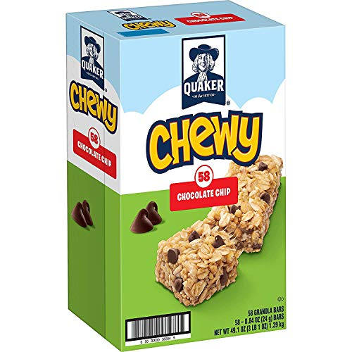 (Quaker Chewy Granola Bars, Chocolate Chip, 58 Count )