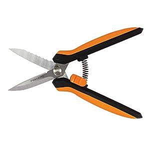 Fiskars Garden 399220 Multipurpose Garden Snips, Black/Orange