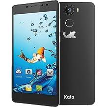Kata C2 - 5.5-inch Super HD IPS Quad Core International Unlocked Smartphone Android 6.0 - Super Slim HD 1.3 GHz Dual Sim Card GSM 13MP Camera (Dark Grey)