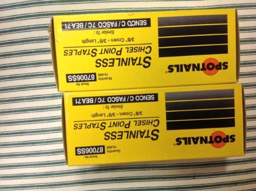 Crown Chisel Steel (Stainless Steel Staples 3/8