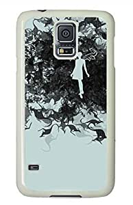 Mob White Hard Case Cover Skin For Samsung Galaxy S5 I9600 hjbrhga1544