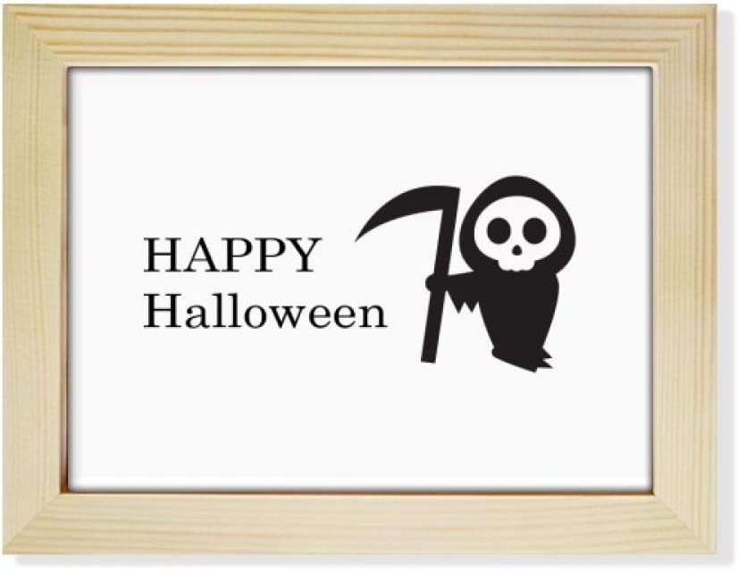 Halloween Decor-Wood Halloween Ghost Picture Frame-Picture Frame