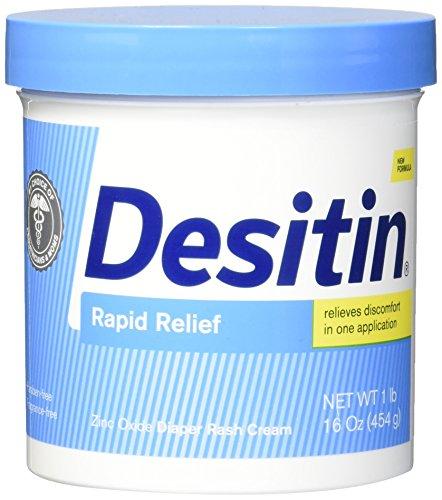 Desitin Diaper Rash Ointment Tube (Desitin Rapid Relief Diaper Rash Cream for Babies, 16)