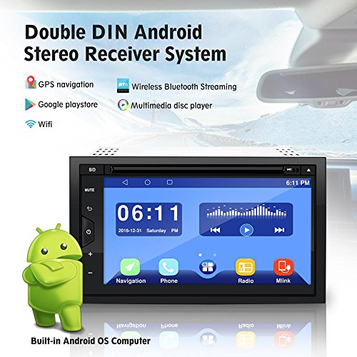Pyle PLDAND697 Double Din Android Stereo Receiver System, 6.8 inches by Pyle (Image #4)