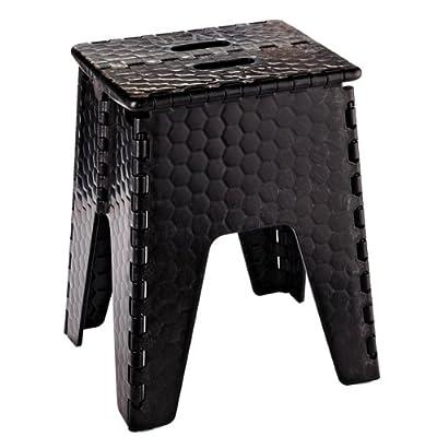 "B & R Plastics 152-6BK E-Z Foldz Black 15"" 'Neat Seat' Step Stool/Seat: Automotive"