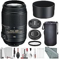 Nikon AF-S DX NIKKOR 55-300mm f/4.5-5.6G ED VR Lens Basic Bundle with 58mm UV Filter + Lens Pouch + XPIX Cleaning Kit
