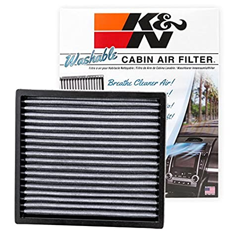 .com: k&n vf2000 washable & reusable cabin air filter cleans ...