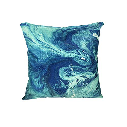 MuaToo Decorative Art Emerald Abstract Texture Liquid Throw Pillow Case Cushion Cover 18